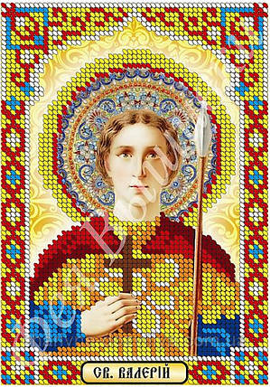 """Схема для вышивки бисером икона """"Святой Валерий"""" (частичная зашивка), фото 2"""