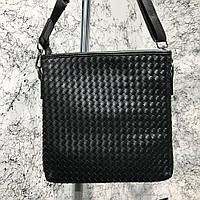 Bottega Veneta Nero Intrecciato Messenger Bag