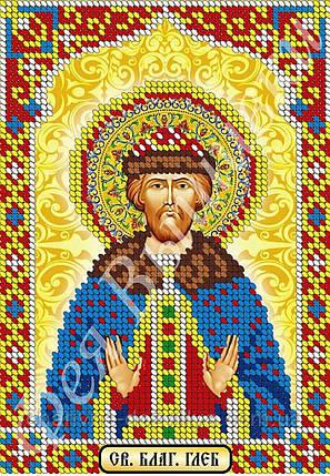 """Схема для вышивки бисером икона """"Святой Глеб"""" (частичная зашивка), фото 2"""