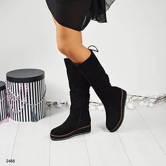Зимние сапоги декорированные шнуровкой 37 38 39 40 41