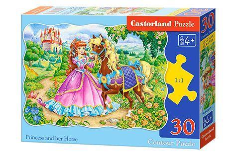 """Пазлы """"Принцесса и её лошадка"""", 30 элементов"""