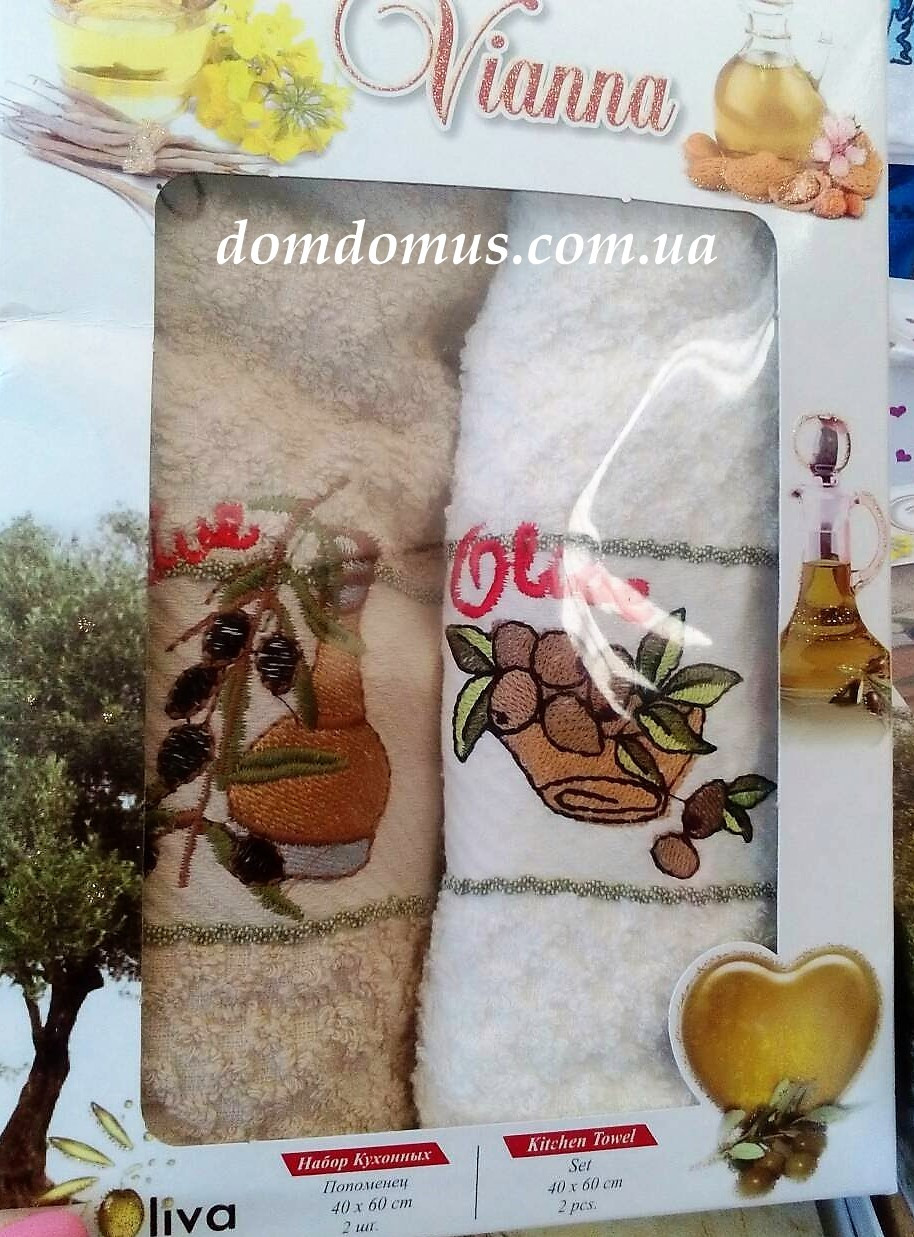 Набор кухонных полотенец 40*60 см Vianna 2 шт., Турция 506