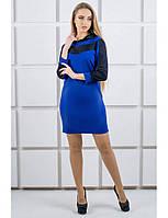 Короткое комбинированное платье в спортивном стиле b6860ad4dd9a3