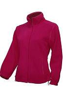Куртка женская флисовая теплая, JHK (Испания) повседневная одежда для отдыха и спорта, все размеры и цвета Малиновый (RP), L