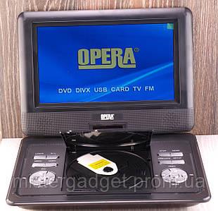 """Автомобильный портативный проигрыватель Opera DVD 13.8"""" с аккумулятором USB+TV NS1129"""