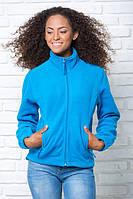 Куртка женская флисовая теплая, JHK (Испания) повседневная одежда для отдыха и спорта, все размеры и цвета