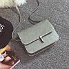 Женская мини сумочка на защелке серая из экокожи опт