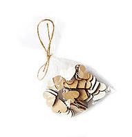 Деревянные Сердца сердечки Сердечко (сердце) декоративные 2.5 см 30 шт/уп