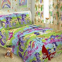 Детское постельное белье - поплин 150x215 см Пони