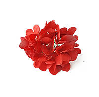 Декоративная Гортензия из ткани Красная Головка гортензии 14 см