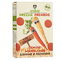 """Erdbär Bio """"Озорные друзья"""" Вафли овощные """"морковь и пастернак"""" 40 г, с 12 мес."""