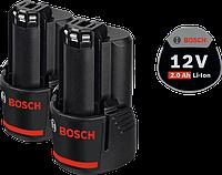 Комплект аккумуляторных батарей Li-ion Bosch 2 х GBA 12 V, 2.0 Ач