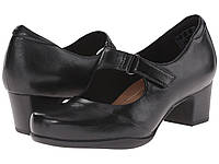 Туфли на каблуке (Оригинал) Clarks Rosalyn Wren Black Leather, фото 1
