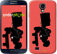 "Чехол на Samsung Galaxy S4 i9500 Барт на красном фоне ""653-13"""