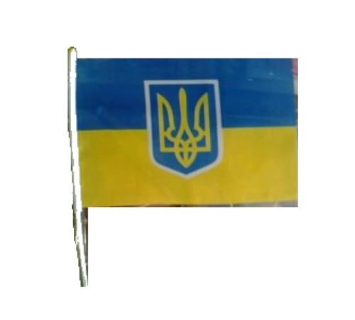 Флаг Украины 60*90 с флагштоком