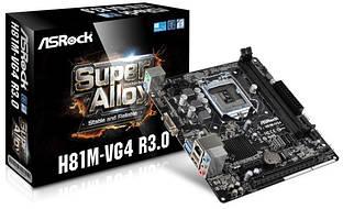 Материнская плата AsRock H81M-VG4 R3.0 Сокет LGA 1150 DDR3 Гарантия Новая