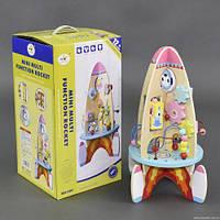 """Детская деревяная развивающая игрушка Деревянная игрушка С 23214 """"Ракета"""""""
