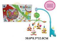 Детский мобиль  Карусель - погремушка на кроватку, батарейки, мягкие игрушки, музыка, в коробке