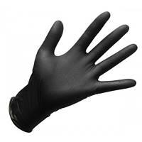 Перчатки нитриловые чёрные неопудренные S 100 шт ASTRA