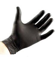 Перчатки смотровые нитрил черные 100 шт, S, Safe-Tach, Централмед