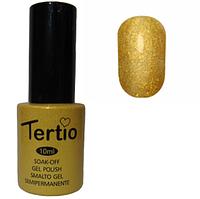 Гель-лак №177 (насыщеный золотистый с блестками) 10 мл Tertio