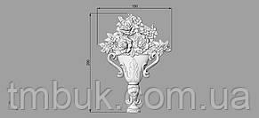 Центральный резной декор 6 Ваза - 150х200 мм, фото 2
