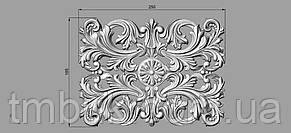 Центральный резной декор 9 - 250х185 мм, фото 2