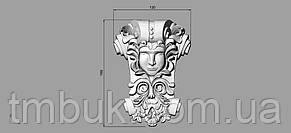 Центральный резной декор 16 Лицо - 120х166 мм, фото 2