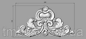 Центральный резной декор 28 для филенок - 250х135 мм, фото 2