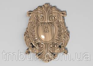 Центральний різьблений декор 40 - 120х155 мм, фото 2