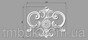 Центральный резной декор 43 - 200х160 мм, фото 2