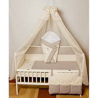 """Бортики, постель, карман в кроватку новорожденного-""""Песик вышивка"""""""