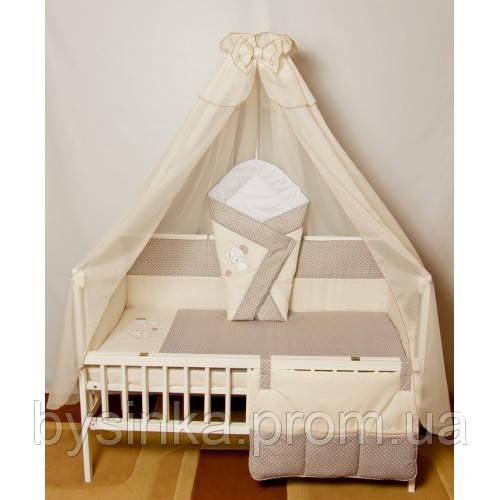 """Бортики, постель, карман в кроватку новорожденного-""""Песик вышивка"""" - Магазин детских товаров «Моя Бусинка» в Киеве"""