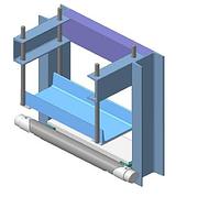 Монорельсовые весы пылевлагозащищенные Техноваги ТВ2-300-0,1-М (800)-S-12h; НПВ: 300 кг