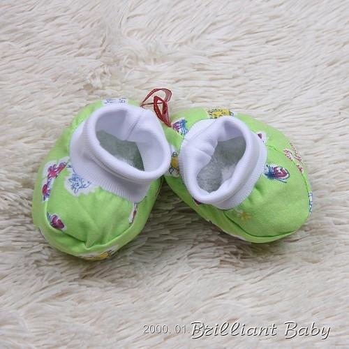 Пинетки-носочки, салатовый с принтом