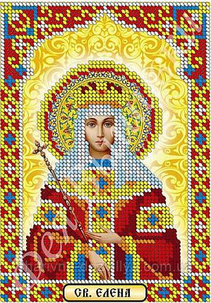 """Схема для вышивки бисером икона """"Святая Елена"""" (частичная зашивка), фото 2"""