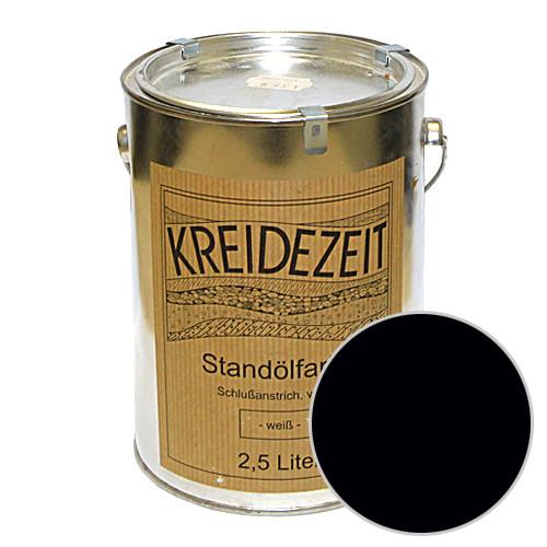 Стандолевая масляная краска полужирная / нижний слой /Zwischenanstrich schwarz, черная 0,75 l