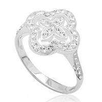 Серебряное кольцо TN946 с кристаллами Swarovski размер 17 Код:4756