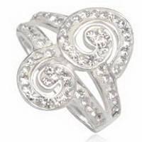 Серебряное кольцо TN947 с кристаллами Swarovski размер 17 Код:4757