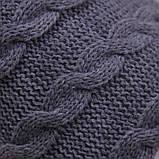 Вязанная шапочка Weave с подкладкой, серая, фото 2