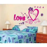 Интерьерная наклейка на стену Любовь (AY9074) Код:18863