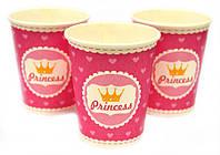 Набор стаканчиков Принцессы сердечки 10 штук