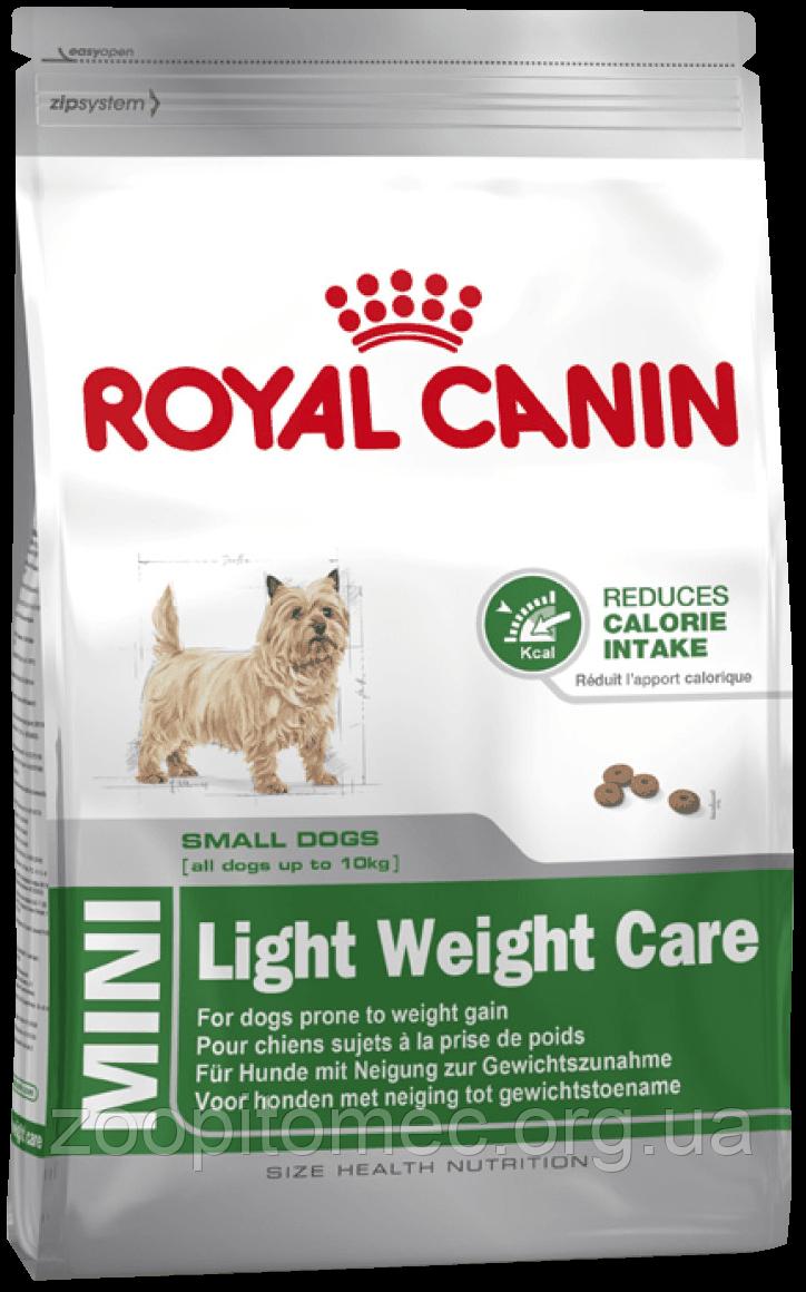 Сухой корм Royal Canin (Роял Канин) MINI LIGHT WEIGHT CARE для собак мелких пород с избыточным весом, 1 кг