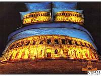 Постельное белье 3D сатин Love you Колизей