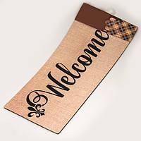 """Придверний килимок """"Welcome"""" (56х26 см.), фото 1"""