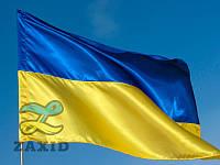 Флаг Украины из креп-сатина