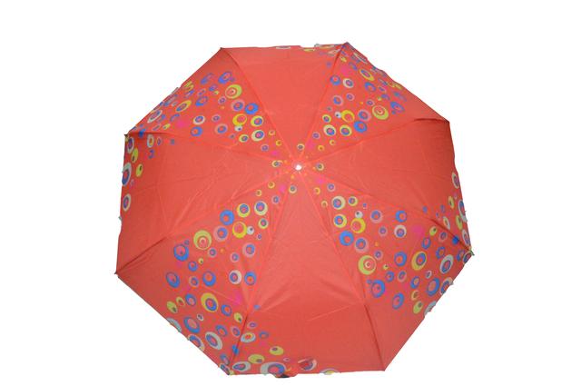 Зонтик женский красный полуавтомат (4832) фото 1