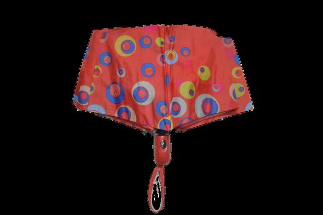 Зонтик женский красный полуавтомат (4832) фото 2