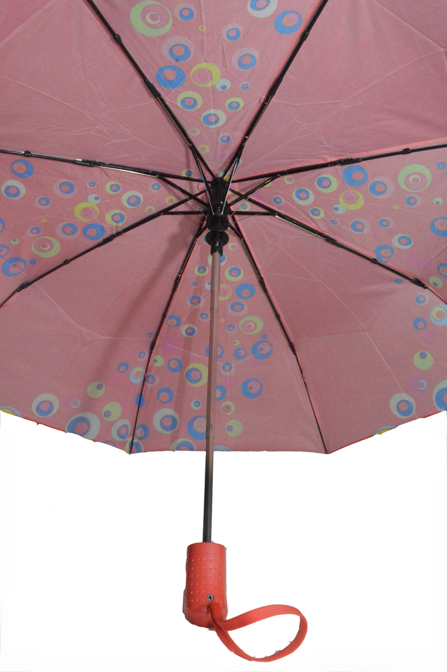 Зонтик женский красный полуавтомат (4832) фото 3