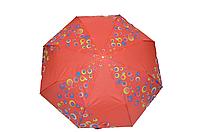 Зонтик женский красный полуавтомат (4832)